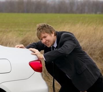 Car needing a service