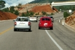 Audi and VW on the road