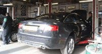 Audi car in for repair