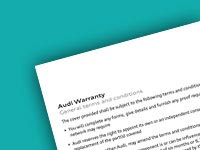 Audi Warranty for servicing