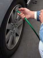 tyre check for air pressure