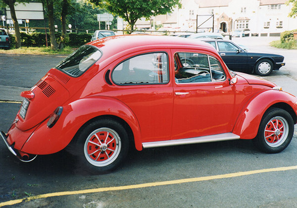 Beetle car restored by Clover Autos