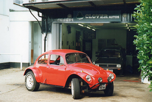 Red Beetle Car after being restored